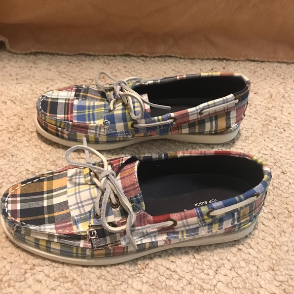 Sperry Top-Sider Womens, Plaid EUC Size 7.5